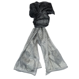 Valentino VS7018 5967 Col.1 Grey Floral Silk Ladies Scarves