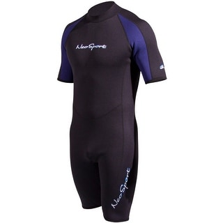 NeoSport Neoprene Backzip Shorty Wetsuit - Blue