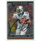 Ronnie Brown Miami Dolphins 2006 Topps Chrome Autographed Card Nice Card This item comes with a c