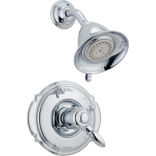 Delta T17255  Victorian Monitor 17 Series Dual Function Pressure Balanced Shower Trim Package with Touch Clean Shower Head and