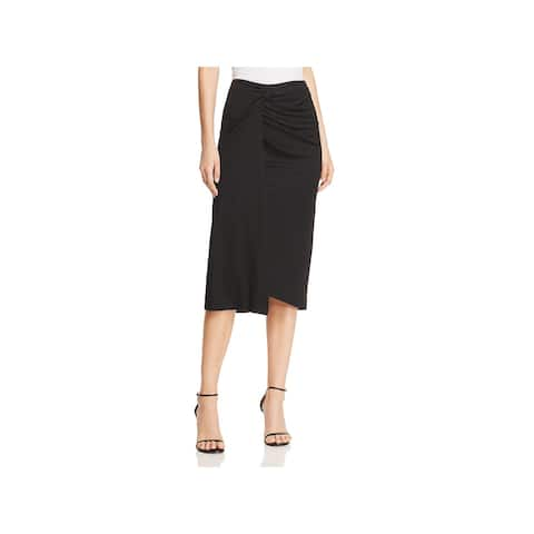 Kenneth Cole Womens Straight Skirt Faux Wrap Knee-Length