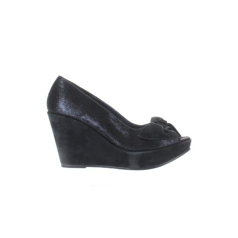 Cordani Womens Roselyn Blue Metallic Peep Toe Heels EUR 38