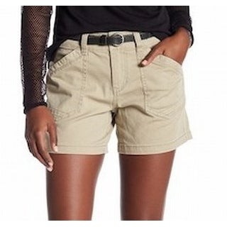 Supplies NEW Beige Women's Size 12 Alix Twill Button-Closure Shorts