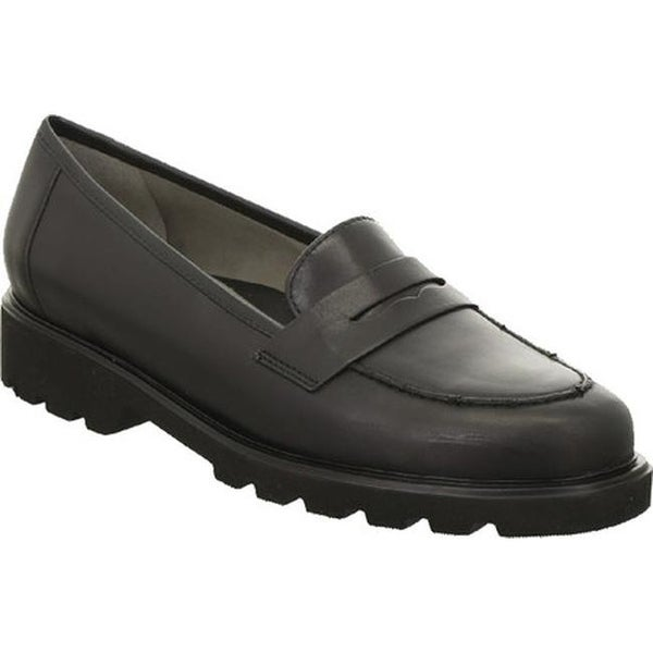 fae696bd274 Shop ara Women s Helga 48627 Penny Loafer Black Calf - On Sale - Free  Shipping Today - Overstock - 14549641