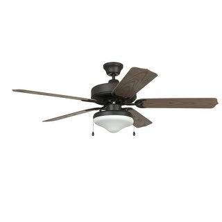 """Craftmade END525C Enduro 52"""" 5 Blade Indoor / Outdoor Tri-Mount Ceiling Fan - Light Kit Included"""