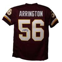 Lavar Arrington Autographed Washington Redskins XL Red Jersey JSA