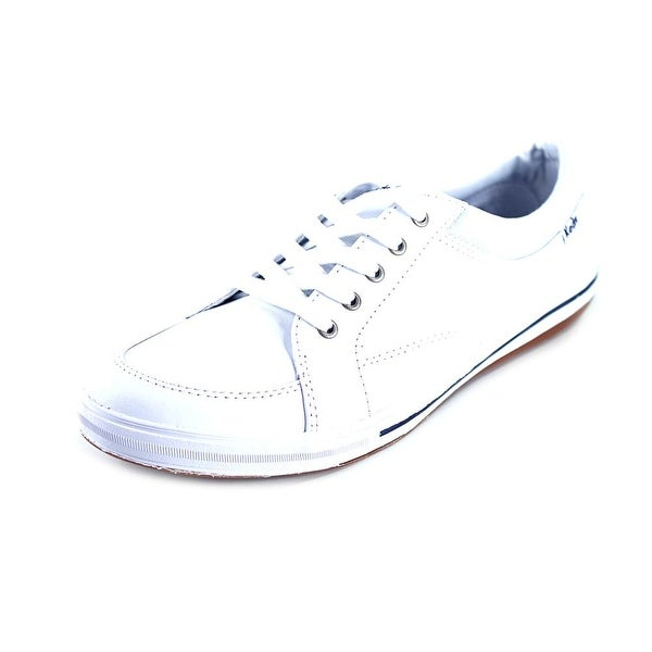 Keds Vollie Women Round Toe Leather White Sneakers
