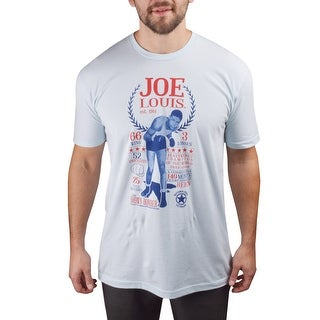 Title Boxing Joe Louis Stats Premium Fitted Legacy T-Shirt - Light Blue