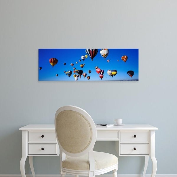 Easy Art Prints Panoramic Image 'Hot air balloons floating in sky, Albuquerque Balloon Fiesta, New Mexico' Canvas Art