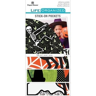 Paper House Life Organized Vellum Planner Pockets 12/Pkg-Halloween