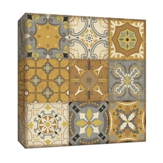 """PTM Images 9-152893  PTM Canvas Collection 12"""" x 12"""" - """"Golden Glow II"""" Giclee Patterns and Designs Art Print on Canvas"""
