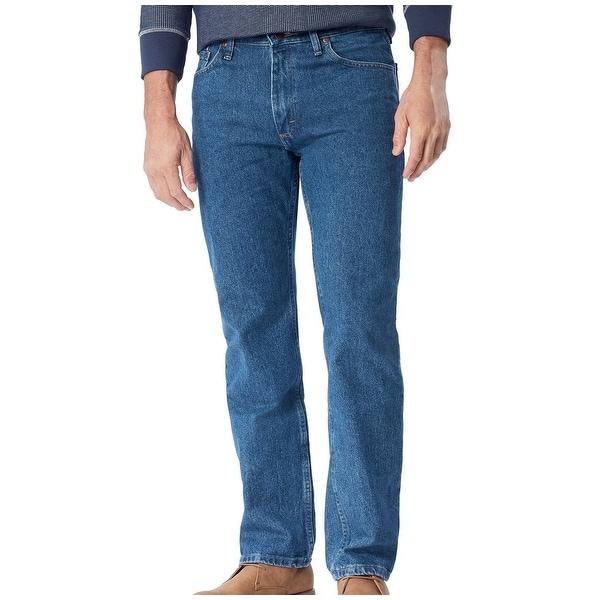 23ca1773f92653 Shop Wrangler Blue Mens Size 40 Regular-Fit Straight Leg Stretch ...