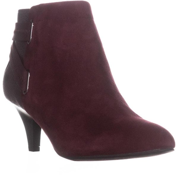 A35 Vandela2 Back Strap Ankle Booties, Malbec Wine - 8 us