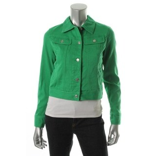 LRL Lauren Jeans Co. Womens Susan Denim Jacket Denim Cotton - xs