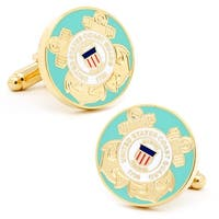 Gold Plated US Coast Guard Cufflinks