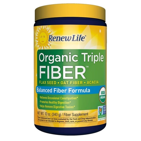 Renew Life Organic Triple Fiber - 12 oz Powder