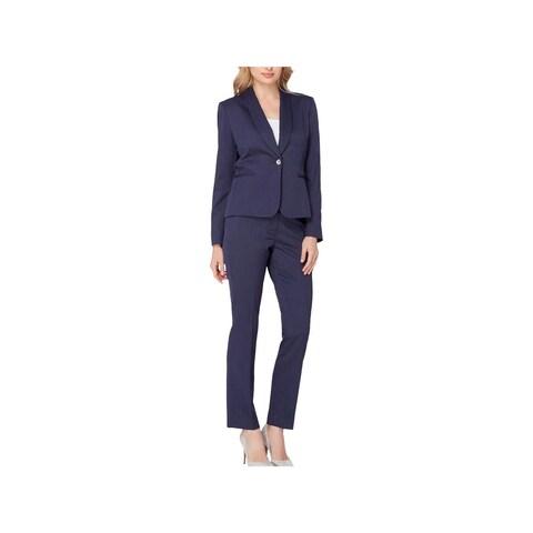 Tahari ASL Womens Pant Suit 2PC Shawl-Collar
