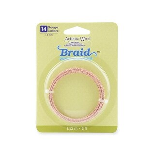 Artistic Wire Braid 14Ga 1.6mm Rose Gold 5ft