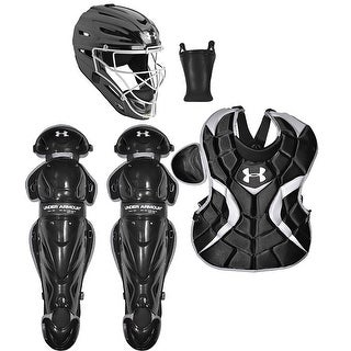 Under Armour Baseball PTH Victory Catching Kit (Black - Senior Size/Ages 12-16)
