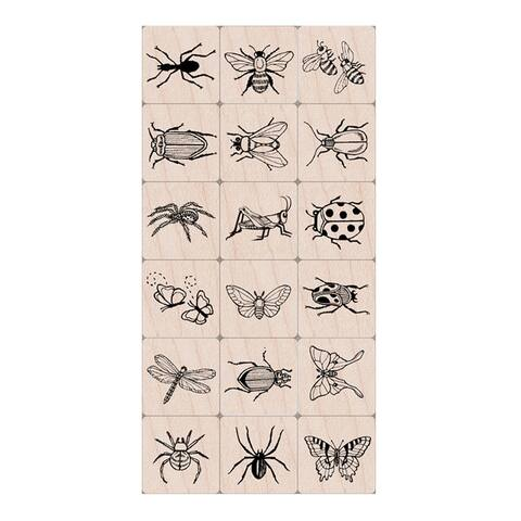 Ink 'n' Stamp Bugs Stamps, Set of 18 - One Size