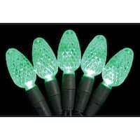 Celebrations 7001004S-04AC C6 Green LED Light String, 25.5'