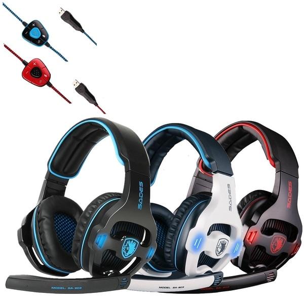 SA-903 7.1 Surround Sound USB Headband Pro Gaming Headset For PC Laptop