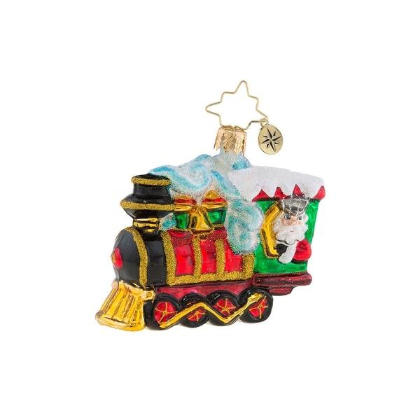 Christopher Radko All Aboard Little Gem Christmas Ornament #1019174