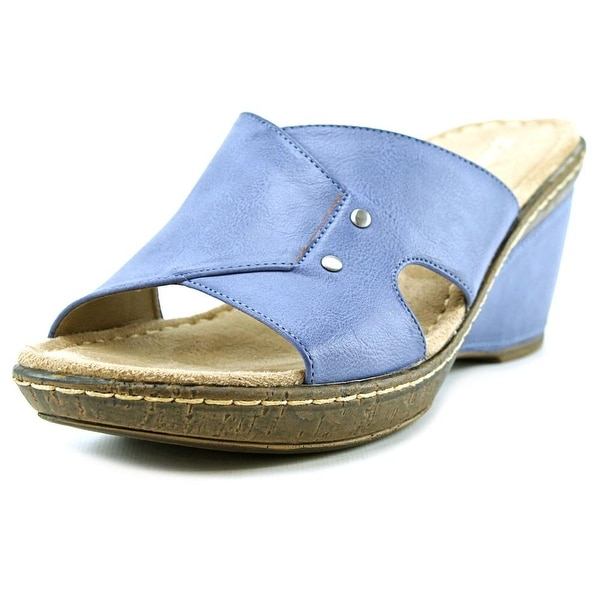 Naturalizer Hurry Open Toe Synthetic Wedge Heel
