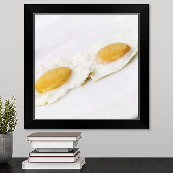 """""""Two fried eggs"""" Black Framed Print"""