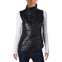 Betsey Johnson Womens Outerwear Vest Quilted Heart
