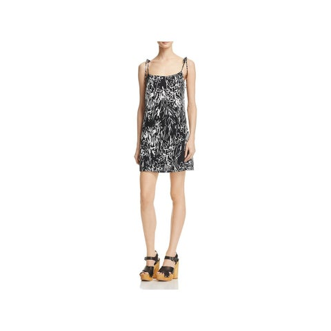 French Connection Womens Slip Dress Crepe Printed