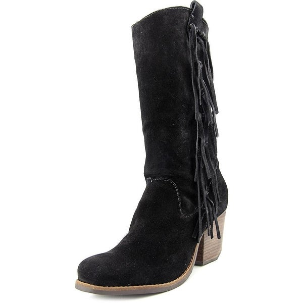 Matisse El Paso Women  Square Toe Suede Black Mid Calf Boot