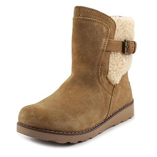 Ugg Australia Jayla Youth Round Toe Suede Tan Winter Boot