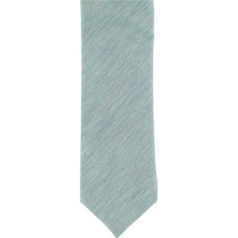 Penguin Mens Heathered Self-tied Necktie, blue, One Size - One Size