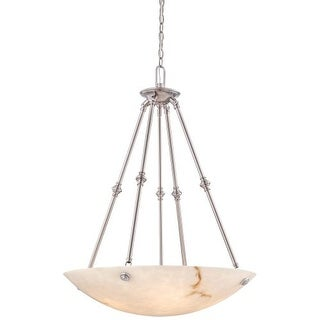 Metropolitan N3705-PW 5 Light Bowl Shaped Pendant in Pewter from the Virtuoso II Collection