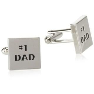 Geoffrey Beene Mens #1 DAD T-Shape Cufflinks Brass Embossed
