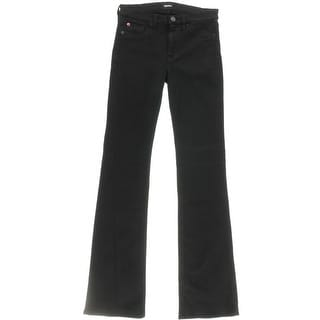 Hudson Womens Stretch Mid-Rise Bootcut Jeans - 32