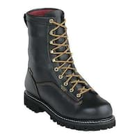 "Georgia Boot Men's G80 8"" Insulated Waterproof GORE-TEXBoot Black Full Grain Leather"