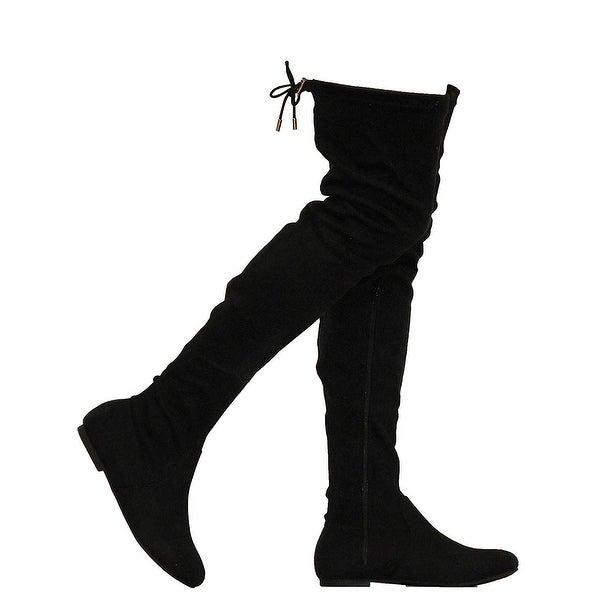 Shop MVE Shoes Women's Over Knee Platform Boots Easy On