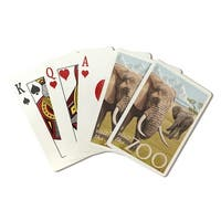 African Elephant - Visit the Zoo - LP Artwork (Poker Playing Cards Deck)