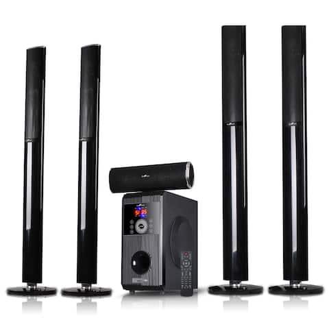 beFree Sound 5.1 CA Bluetooth Tower Speaker System-Sound Amplifier