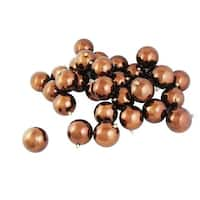 "60ct Shiny Mocha Brown Shatterproof Christmas Ball Ornaments 2.5"" (60mm)"