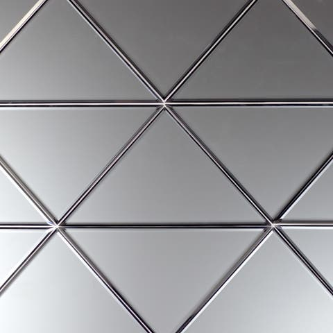 """Miseno MT-WHSREMTRI-SI Reflections - 7"""" x 7"""" Triangle Wall Tile - - Silver"""