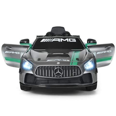 Gymax Licensed Kids Ride On Car 12V Electric Mercedes Benz Toy Car With 2 4G Remote Control