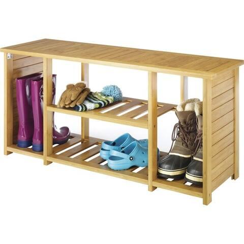 Whitmor 6277-4467-bb bamboo shoe bench