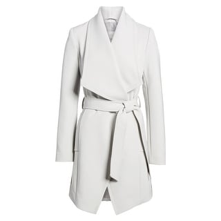 Link to T Tahari Abbey Silver Gray Wrap Belted Trench Coat Similar Items in Women's Outerwear