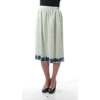KIIND OF $79 Womens New 7105 Light Blue Frayed Knee Length A-Line Skirt XS B+B