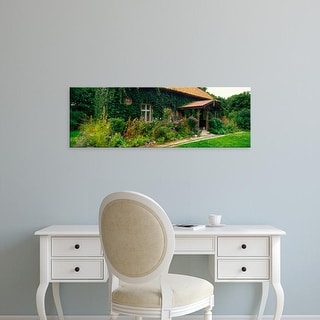 Easy Art Prints Panoramic Images's 'Facade of an old house, Poland' Premium Canvas Art
