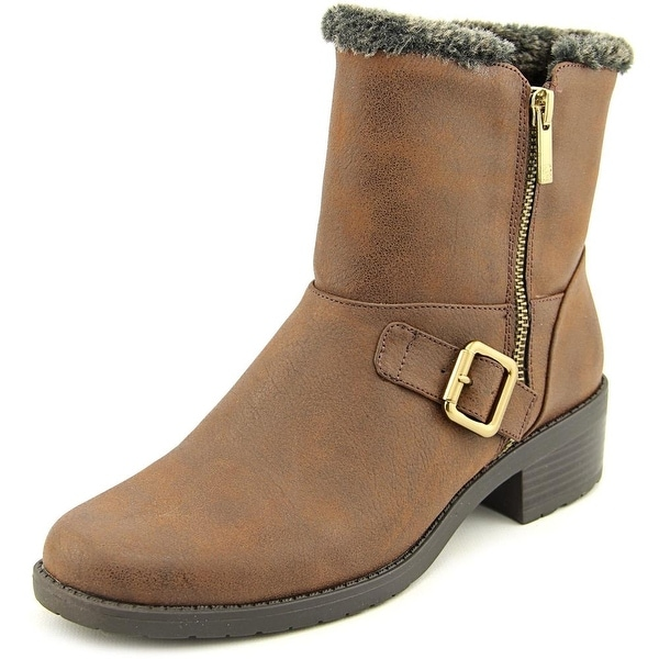 Anne Klein Lyvia Women  Round Toe Leather  Ankle Boot