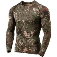 Tesla MUD01 Cool Dry Long Sleeve Compression Shirt - Pixel Camo/Olive